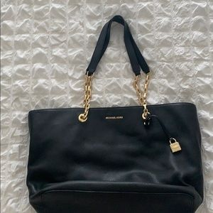 Michael Kors black leather tote, large